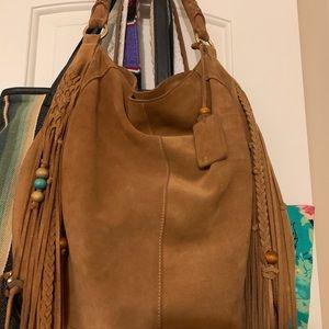 Linea Pelle suede fringe shoulder bag